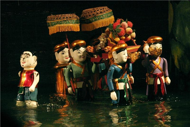 Hanoi Water Puppets Performance Harvest Festival