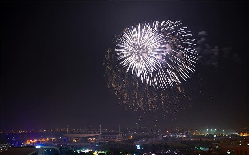 Firework display in Hanoi