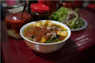 Cultural feature in Hanoi rice noodles