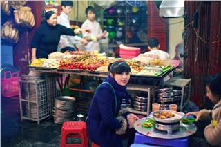 Grilled dishes in Hanoi