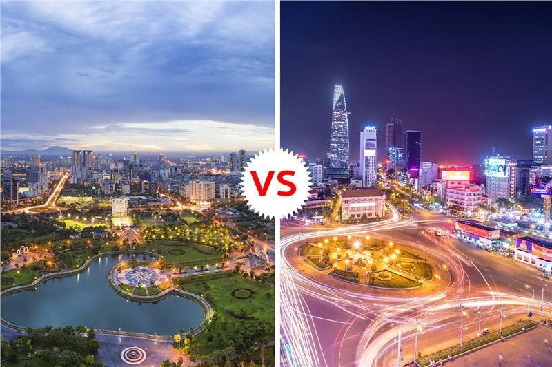Hanoi vs Ho Chi Minh City