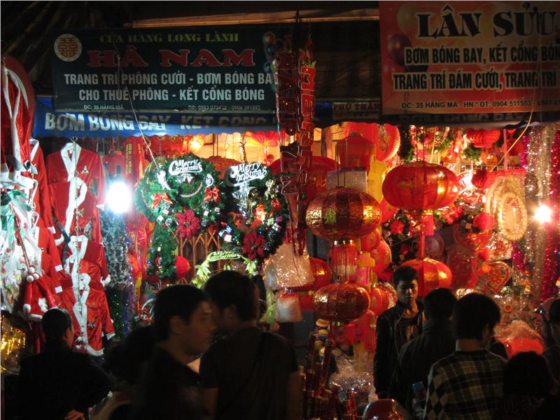 A store in Hang Ma Street seeling ornaments
