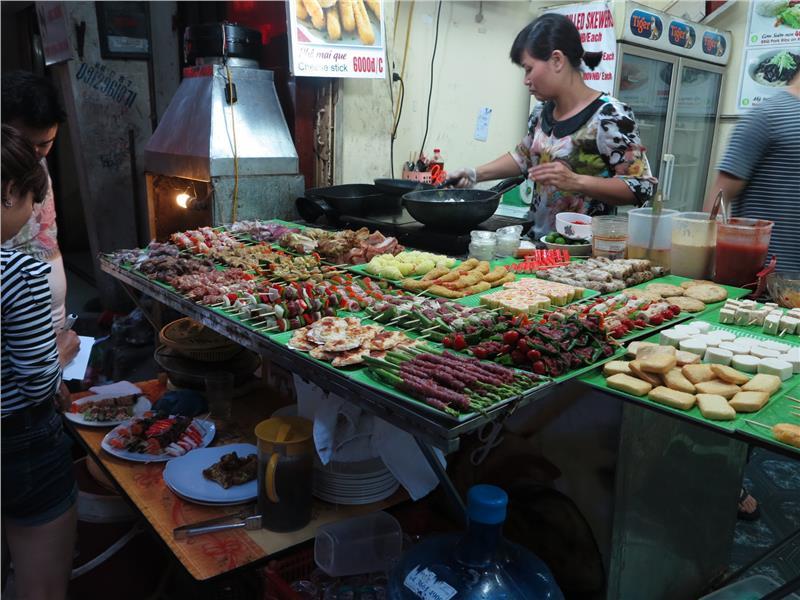 BBQ on Ta Hien Street