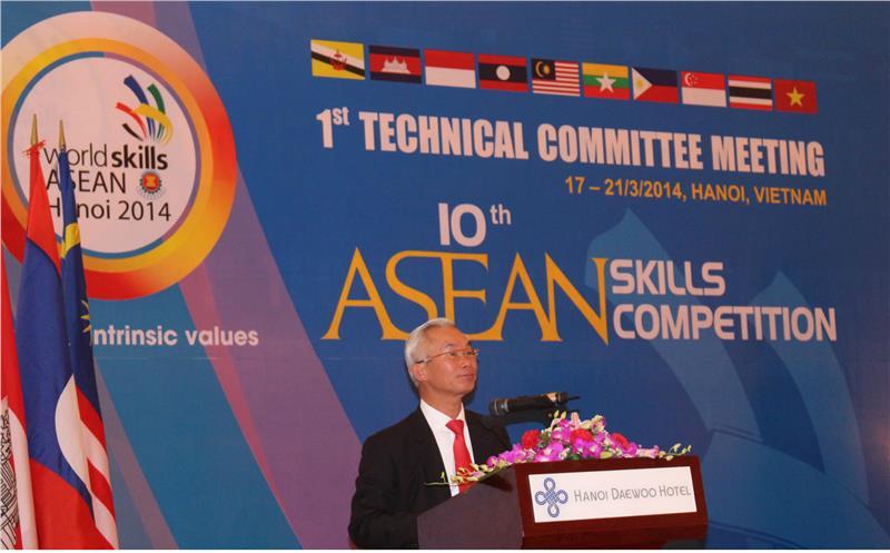 Deputy Minister Nguyen Ngoc Phi speaks at the opening ceremony