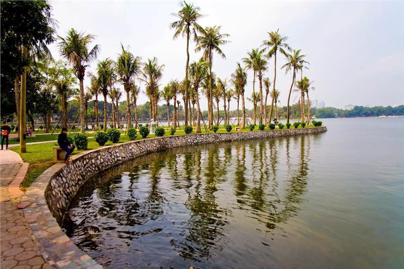 Inside Thong Nhat Park, Hanoi