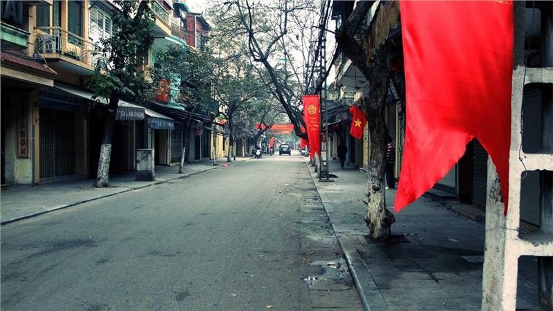 Lan Ong Street in early morning