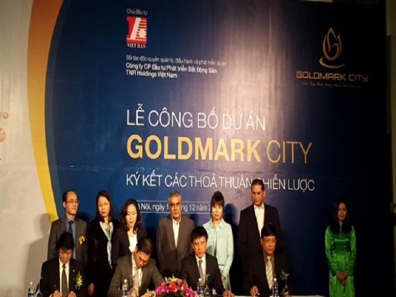 The ceremony to announce Goldmark City project