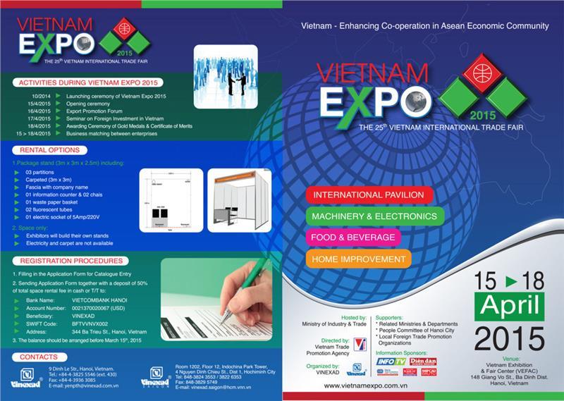 Vietnam Expo 2015 in details