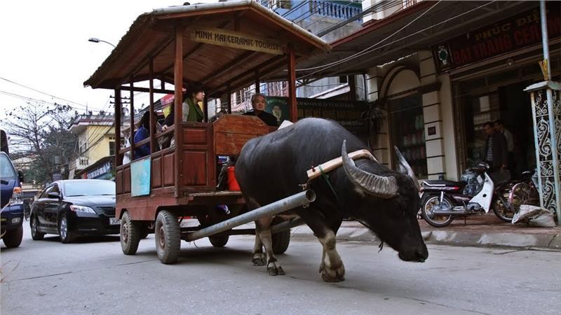A kind of particular tourist vehicle in Bat Trang ceramic village