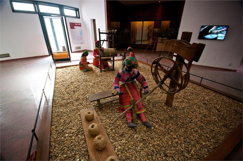 A corner of indoor exhibition in Vietnam Museum of Ethnology