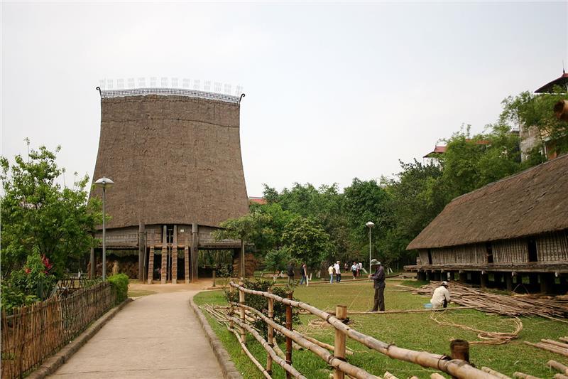 Stilt house at Vietnam Museum of Ethnology