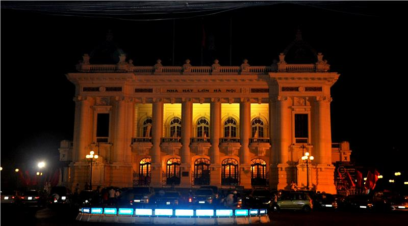 Hanoi Opera House at Night