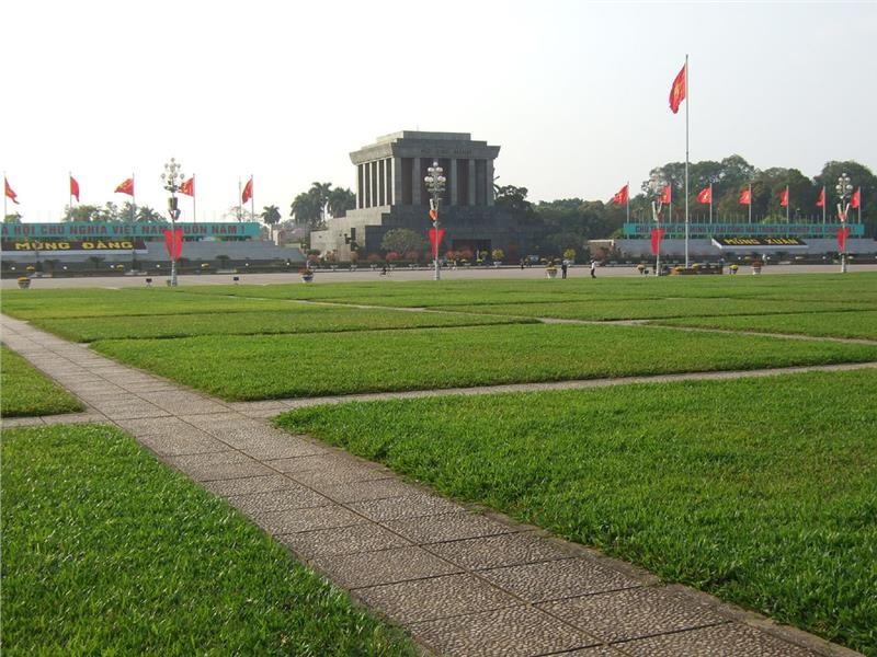 Ba Dinh Square in front of Ho Chi Minh Mausoleum