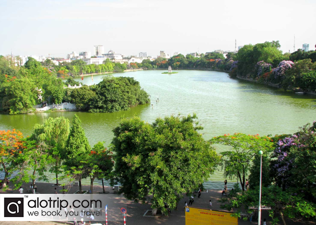 Hoan Kiem Lake from above
