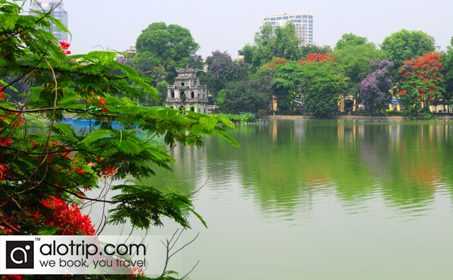 Hoan Kiem Lake in summer
