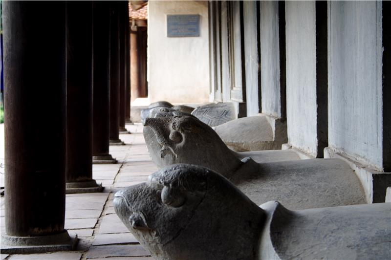 Stone turtles in Temple of Literature