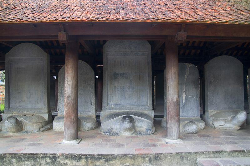 Turtle steles honoring Doctors in royal examinations