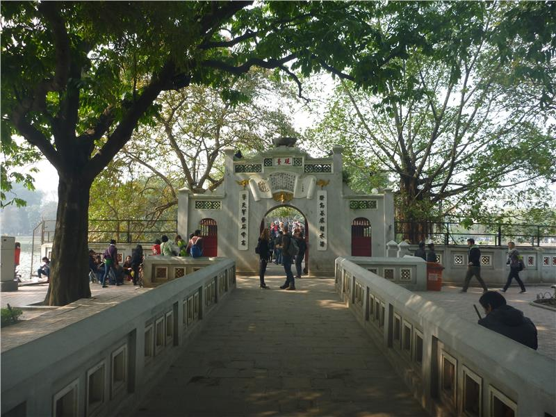 Entrance to Ngoc Son Temple