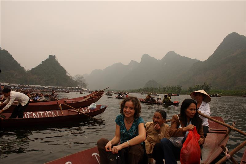 Boat ride to Perfume Pagoda