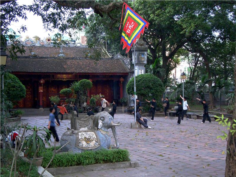 Kung Fu Practice at Quan Thanh Temple