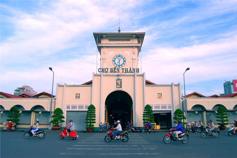 Chợ Bến Thành là chợ truyền thống nổi tiếng tại Sài Gòn
