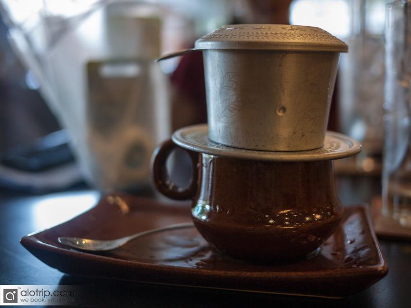 enjoy coffee in Ho Chi Minh