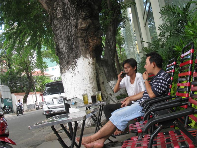 Enjoy street coffee in Saigon