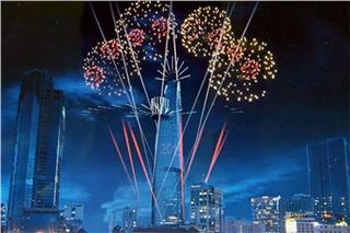 Bitexco Financial Tower central point of New Year 2015