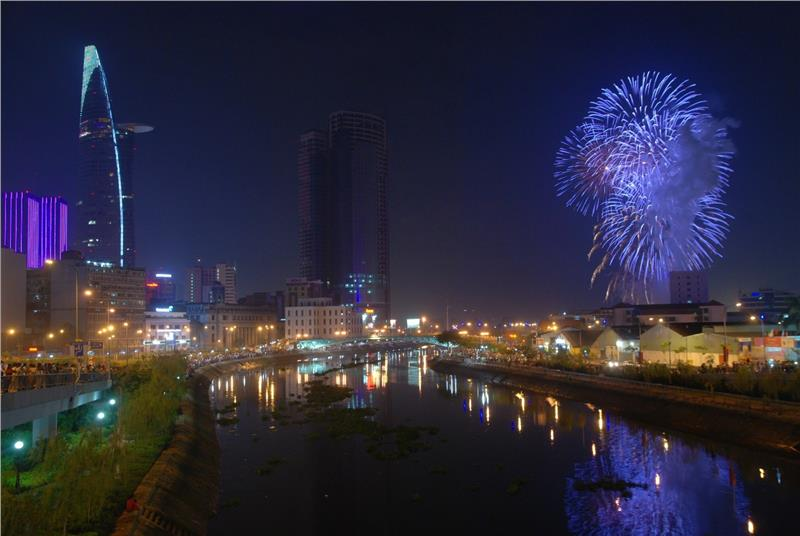 Fireworks performance in April 30