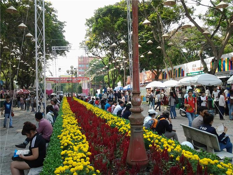 Flower and Book Street in Ho Chi Minh City