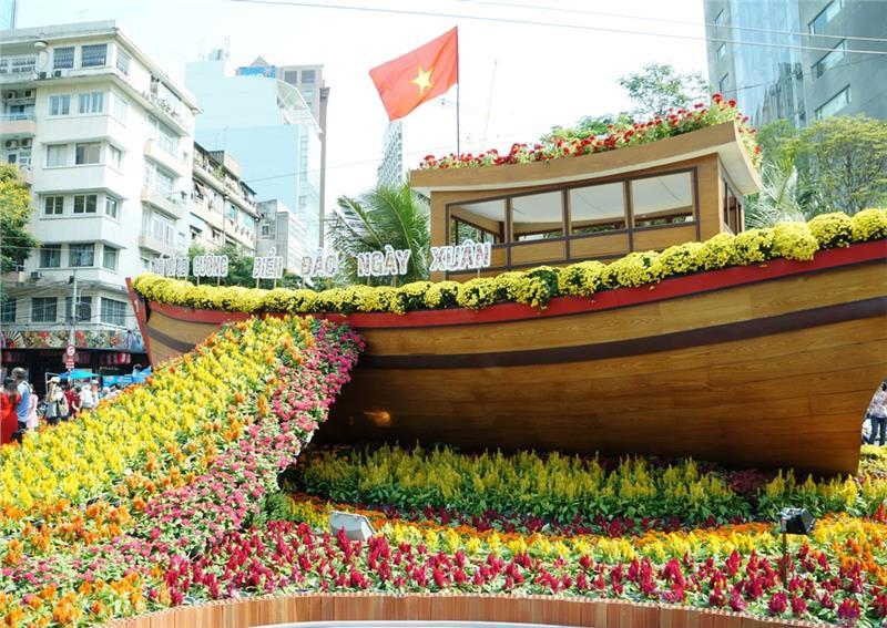 Flower Street in Saigon