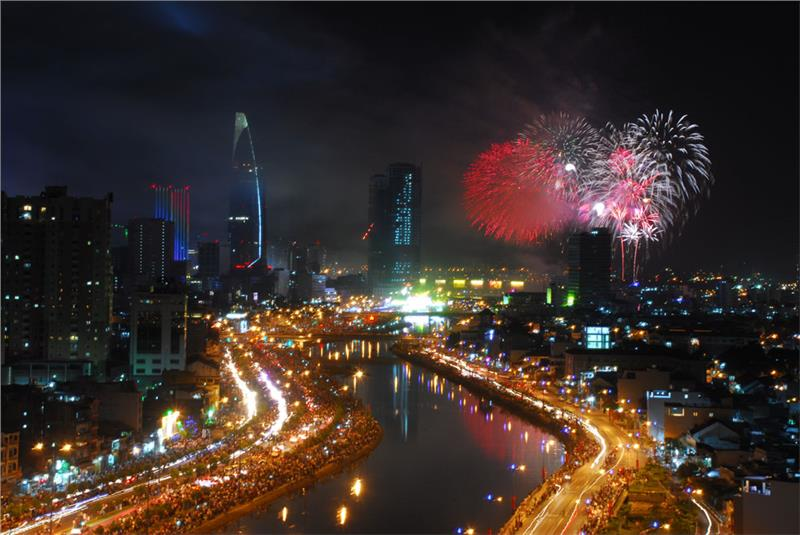 New Year Eve in Ho Chi Minh City