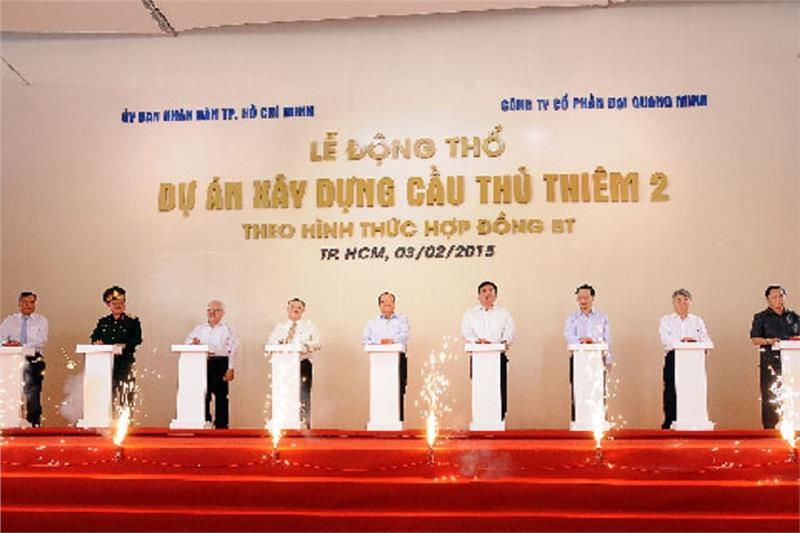 The groundbreaking of Thu Thiem 2 Bridge