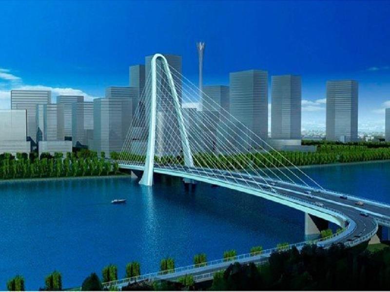 The model of Thu Thiem 2 Bridge in future
