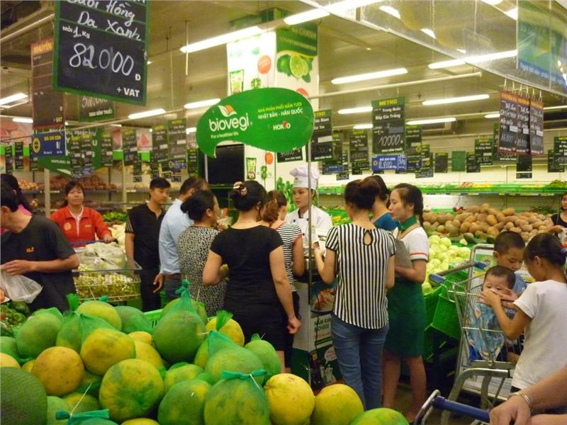 Vietnam agricultural products in Metro supermarket