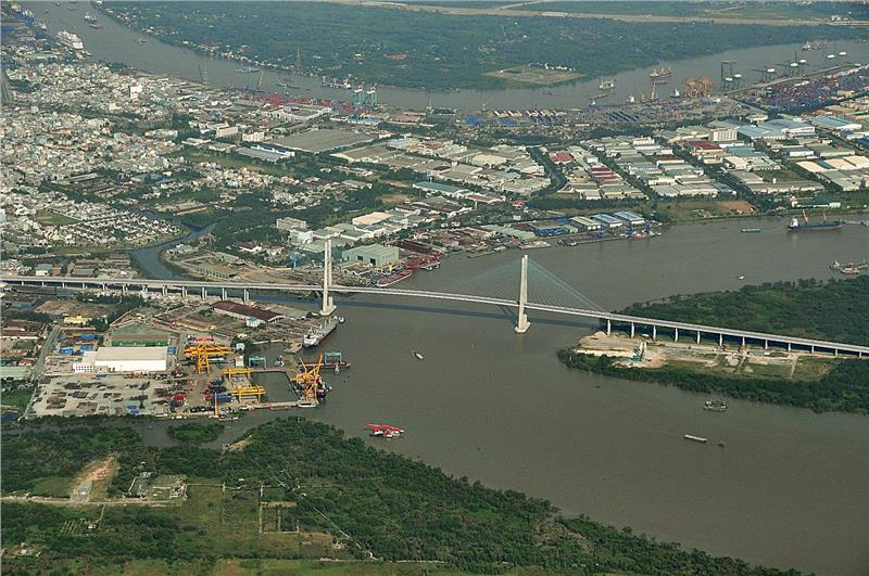 Phu My Bridge (Cablestay Bridge) in Saigon