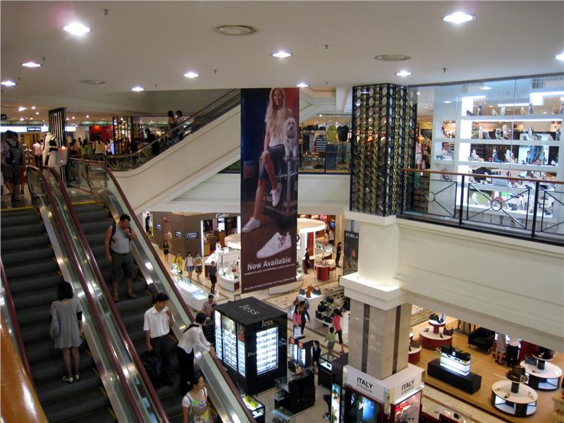 Inside Diamond Plaza Shopping Arcade Void in Ho Chi Minh City