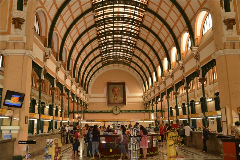 Inside of Saigon Central Post Office