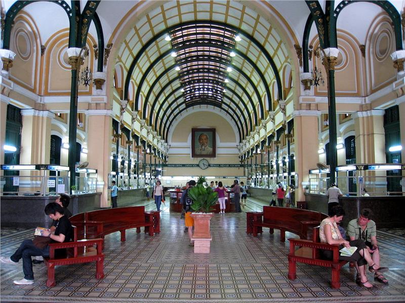 Saigon Central Post Office Lobby