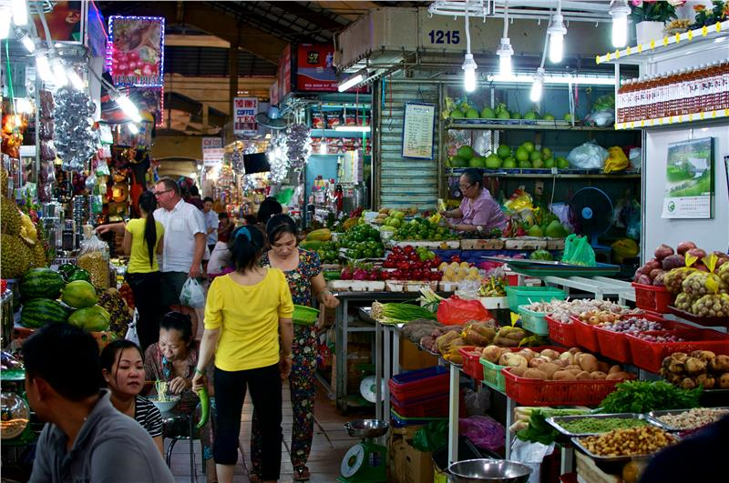 Fruits and vegetable area in Ben Thanh Market