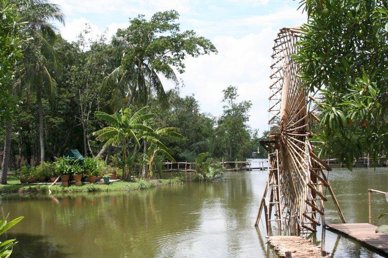 Binh Quoi Village - Bamboo water wheel