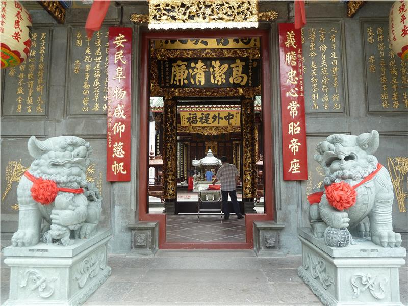 Ba Thien Hau pagoda in Cholon