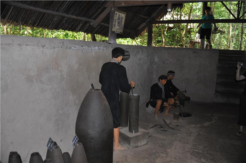 Cu Chi Tunnels - Bomb making area