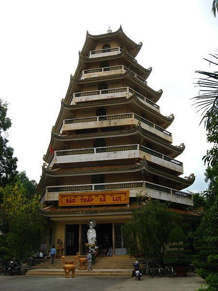 The 7-storied stupa at Giac Lam Pagoda