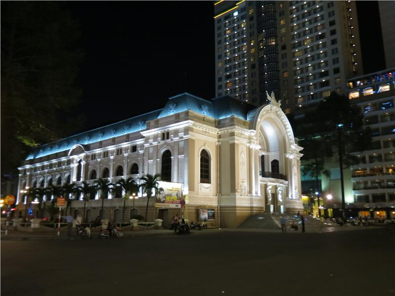 Saigon Opera House at night