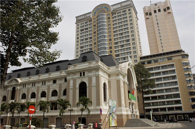 Side view of Saigon Opera House