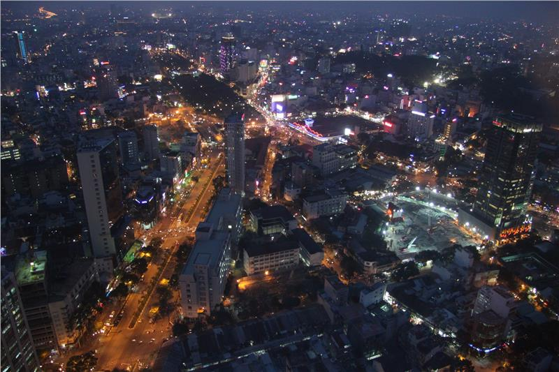Ho Chi Minh City viewed from Saigon Skydeck