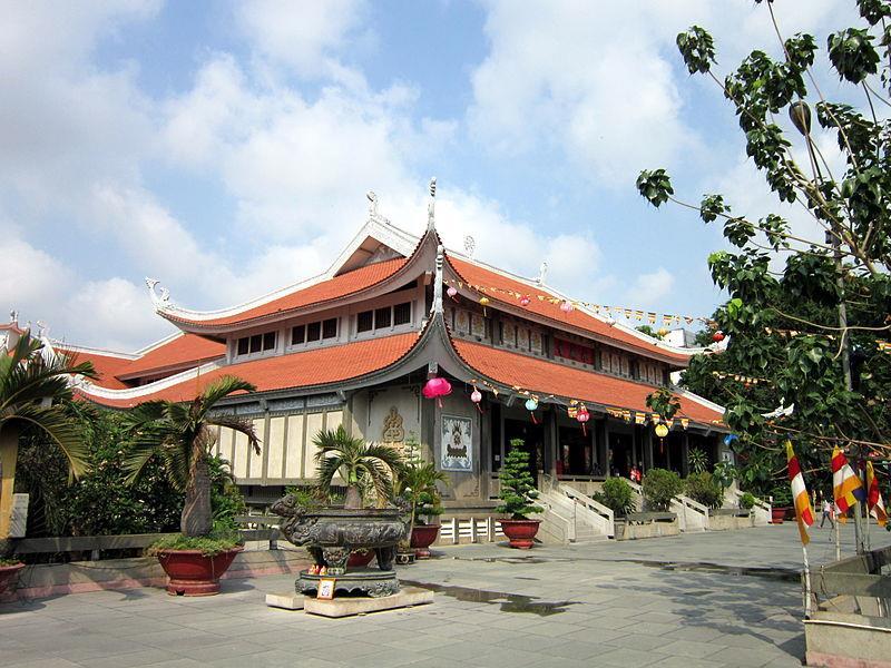 Buddha Sanctum at Vinh Nghiem Pagoda