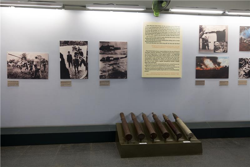 Images of Vietnam War in War Remnants Museum