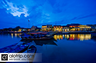 panorama of Hoi An By Night